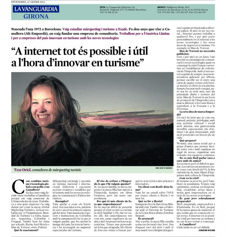 Tess Oriol La Vanguardia Girona